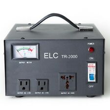 ELC TR-2000 2000 Watt Voltage Regulator Transformer-Step Up/Down (110V/220V)