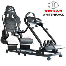IONRAX RS1 + RS SEAT SET-BR(white/black) Racing / Steering Wheel Stand for G29