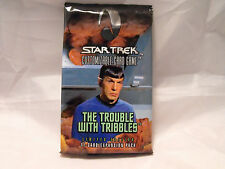 STAR TREK CCG TROUBLE WITH TRIBBLES COMPLETE SEALED BOOSTER PACK OF 11 CARDS