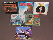 FERNAND GIGNAC 11 LP RECORD ALBUMS LOT COLLECTION French Quebec Vocalist CHANTE