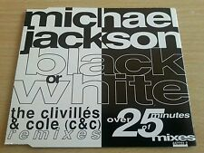 Black Or White - Clivilles & Cole (C&C) Remixes - Michael Jackson - Single CD