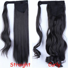 Holiday Hairstyle Real Thick Wrap Around Ponytail Clip in on Hair Extension nw37