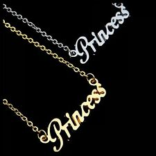 ED5 Princess Word Silver Fashion Chain Necklace BNWT