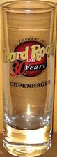 "Hard Rock Cafe COPENHAGEN 2001 ""30 Years"" 4"" SHOT GLASS Cordial 30th Anniversary"