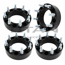 "(4) 2"" 8x180 BLACK Wheel Spacers Chevy GMC 