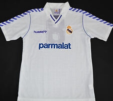 1989-1990 Real Madrid match question Hummel home football shirt (size XL)