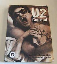U2 canzoni . testo con traduzione . 1°ed 1994