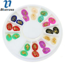 Blueness 1 Wheel DIY Nail Art Resin Multi-Color Decoration Jewelry ZP221
