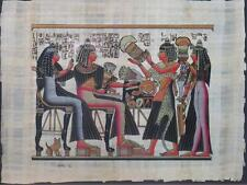 NEW HAND PAINTED EGYPTIAN ART ON PAPYRUS: Offerings Presenting A84