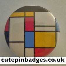 "Piet Mondrian De Stijl Badge (25mm/1"") Pin Button Replica Fine Art Neoplasticism"