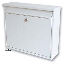 Sterling elegancia Blanco Acero Galvanizado Con Llave Pared buzón de correo buzón