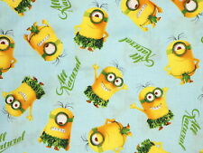 MINIONS ALL NATURAL  GRASS SKIRT  DESPICABLE ME COTTON FABRIC QUILTING TREASURES