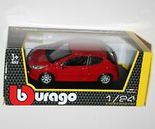 Burago - PEUGEOT 207 (Red) - Model Scale 1:24