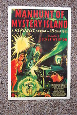 Manhunt of Mystery Island Lobby Card Movie Poster Secret Weapon