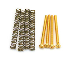 (4) Gold Mounting Screws/Springs for USA/Gibson® Humbucker Pickups GS-0012-002