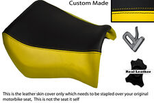 BLACK & YELLOW CUSTOM FITS YAMAHA MT 03 06-13 FRONT LEATHER SEAT COVER