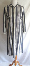 Vintage 70's Dalton Navy Blue White Striped Nautical Shirt Dress Mod Cloth Shift
