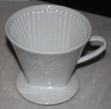 Melitta Kaffeefilter 101 weisse Schrift 3-Loch Porzellan Filter (12)