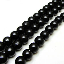 3MM/4MM/6MM/8MM/10MM/12MM Glass Pearl Czech Round Loose Jewelry Beads black