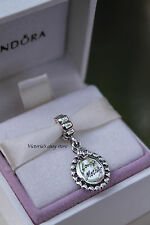 Authentic Pandora Mother's Day GIft Loving Mother Silver Drop Charm 791127CZ