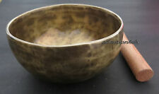 409 Collectible 7 metal mix hand hammered Gift NOTE F# singing bowl Mallet Nepal