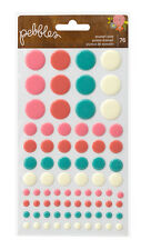 Pebbles Happy Day Epoxy Sticker Dots Embellishment 732707