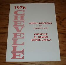 1976 Chevrolet Chevelle Wiring Diagram Manual for Complete Chassis 76 Chevy