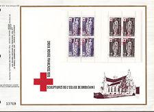 DOCUMENT CEF PREMIER JOUR 1976 CARNET CROIX ROUGE DE L EGLISE DE BROU