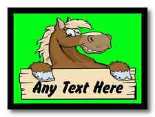 Cartoon Horse Lime Green Personalised Dinner Table Placemat