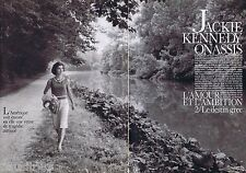 COUPURE DE PRESSE CLIPPING 1989 Jackie Kennedy & Onassis  (15 pages)