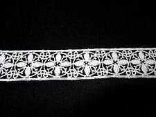 "White Cotton Venise Lace - 10yds for $12.99 - 1 1/8"" Wide"