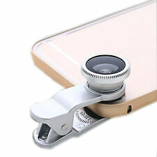 Fashion Clip Fish Eye Macro Wide Angle Lens For Samsung Galaxy Note 5 4 3 S3 S2