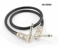 "2ft Kirlin Right-Angle 1/4"" Mono Male to Male Effects Pedal Instrument Cable"