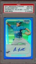 2011 Bowman Chrome Blue Refractor Auto /150 Allen Webster #89 PSA 10 Dodgers