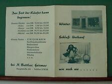 alte WSV Werbung von Buttlar in Göttingen Geismar 60er Jahre Kaufhausreklame