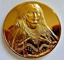 MEDAL ART OF THE AMERICAN WEST Native American Indian MINT A PRETTY GIRL c 1832