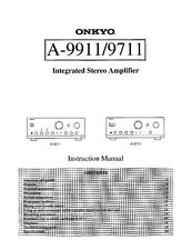 Onkyo Integra A-9911 Amplifier Owners Instruction Manual