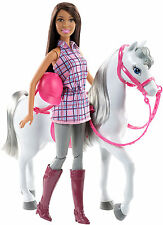 Barbie She Loves her Horse Nikki A.A Doll & White Horse New