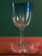 MOSER LOBMEYR QUATREFOIL LOBED CRYSTAL WINE GOBLET STEM, SHADES BLUE TO CLEAR