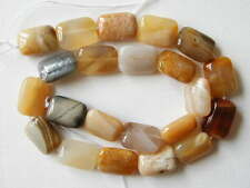 "18mm yellow botswana agate rectangle beads 16"" strand"