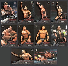 WWE TOPPS 2016 Complete THE ROCK TRIBUTE CHASE CARD SET of 10 (#11-#20)