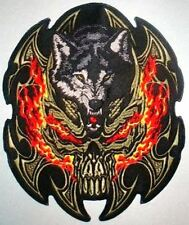 WOLF  MOTORCYCLE BIKER JACKET VEST  Embroidery Patch 10 X 8 CM
