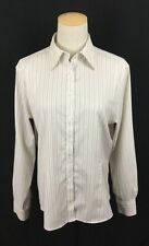 Brooks Brothers Beige Striped Fitted Non Iron Stretch Button Down Shirt Size 12