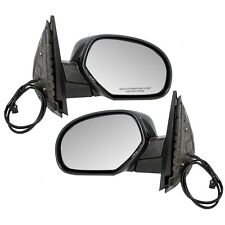 New Pair Set Power Side View Mirror Heated Cadillac GMC Chevy SUV Pickup Truck
