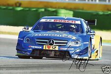 Deutsche Tourenwagen Masters Gary Paffett Hand Signed AMG-Mercedes Photo DTM AE