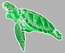 TORTUE MARINE SURF GWADA TAHITI VW DUB 150mmX90mm AUTOCOLLANT STICKER TA079