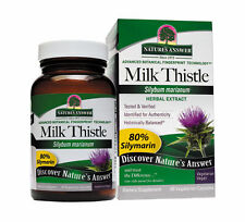 Nature's Answer Milk Thistle Seed Extract. 80% Silymarin. 60 Veg Caps. (9201)