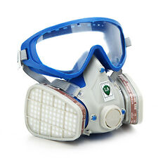 Silicone Full Face Respirator Gas Mask & Goggles Comprehensive Cover Paint