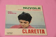 """CLARETTA 7"""" NUVOLE ORIG ITALY '60 SOLO COPERTINA SENZA DISCO"""