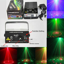 SUNY RG BLUE LED Projector Laser Stage 3 Lens 24Patterns Light Holiday DJ Party